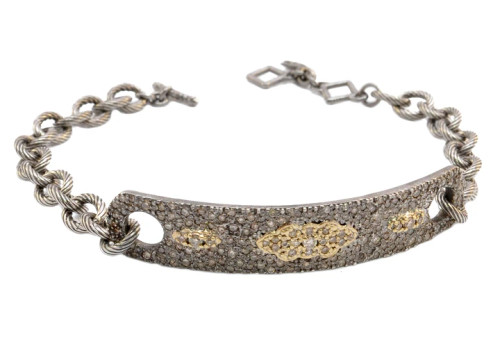 18KT Old World ID Chain Bracelet