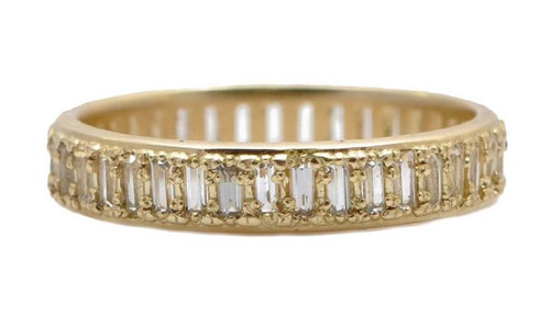 18KT Baguette Stack Band Ring