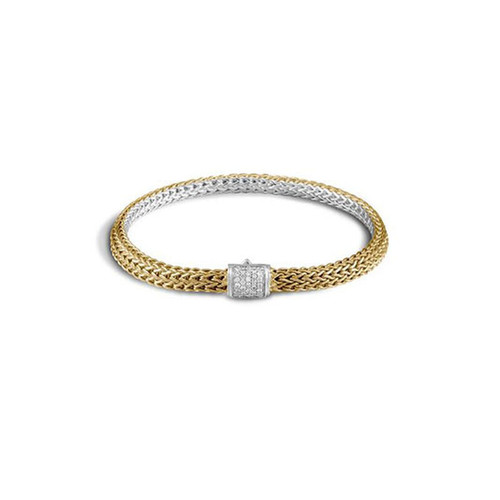 Classic Chain 5mm Reversible Diamond Icon Bracelet