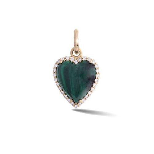 14KT Malachite Alana Heart Charm