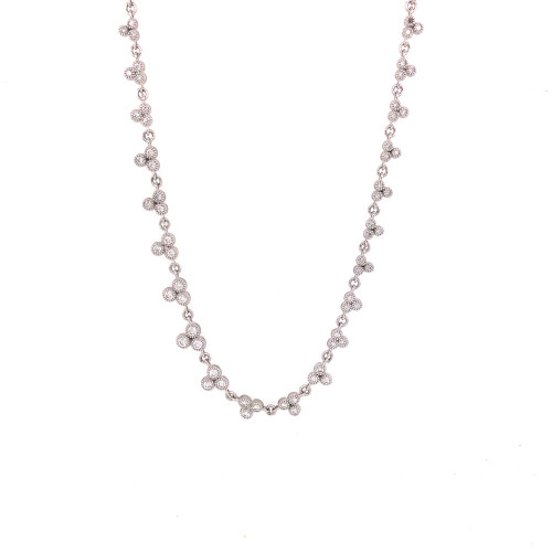 Provence Graduated Diamond Trio Necklace