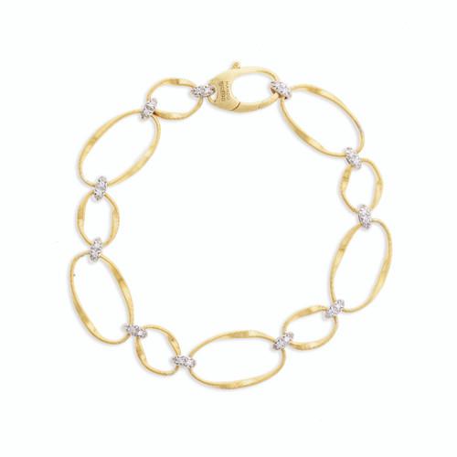 18K Diamond Flat Link Bracelet