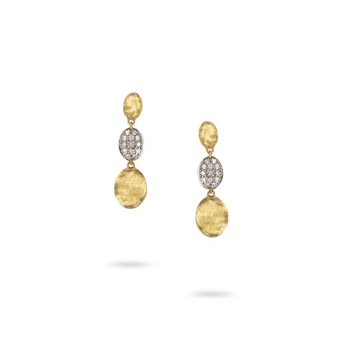 18KT Diamond Triple Drop Earrings