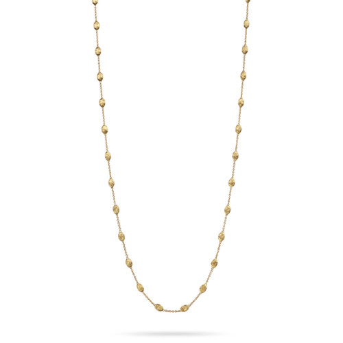 18KT Small Bead Long Necklace