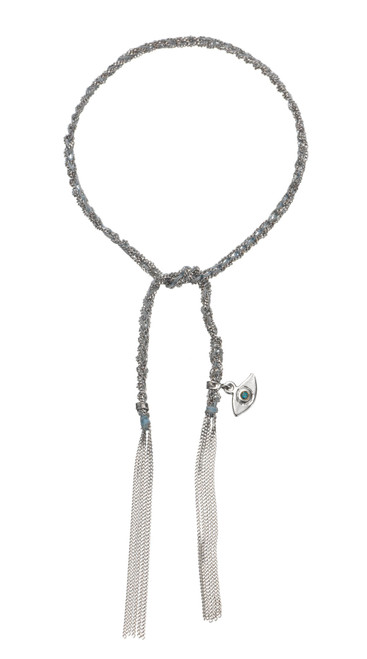18KT Lucky Bracelet with Evil Eye Charm