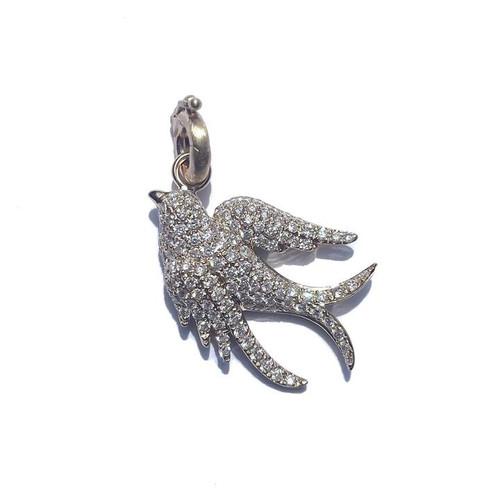 14KT Diamond Birdie Charm