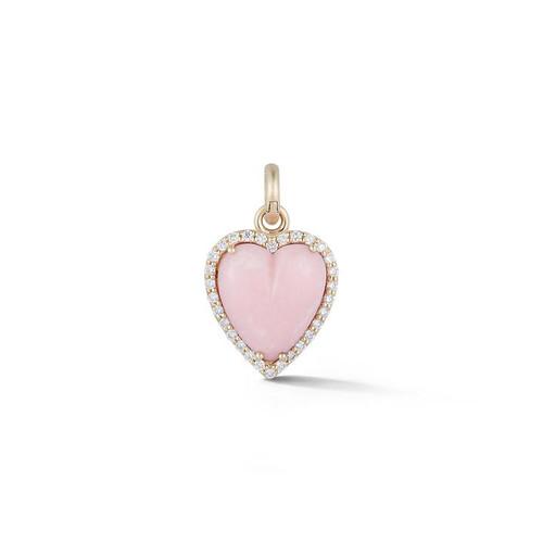 14KT Pink Opal Alana Heart Charm