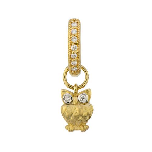 18KT Petite Owl Earring Charm
