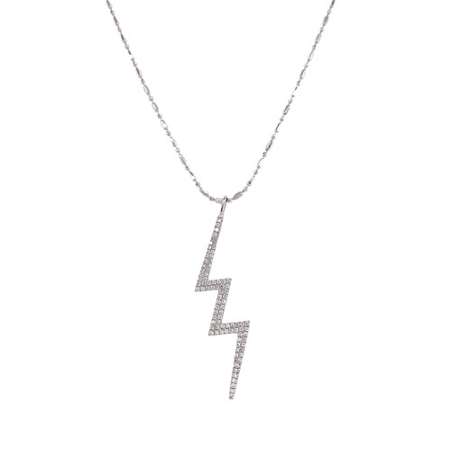 18KT Diamond Lightning Bolt Pendant