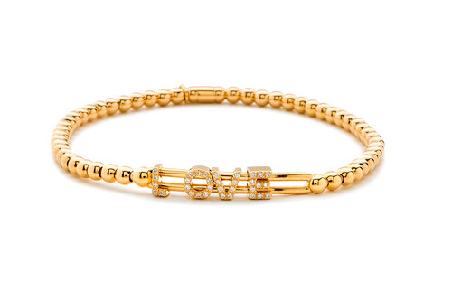 18KT Diamond Love Stretch Bracelet