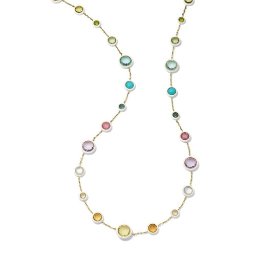 18KT Long Carnevale Rainbow Necklace