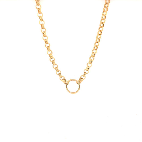 Hollow Rolo Chain with Ring