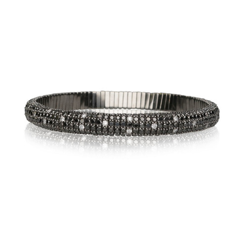 18KT Giotto Black Diamond Stretch Bracelet