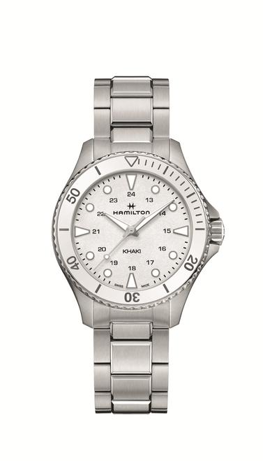 Khaki Navy Scuba Quartz Watch White Dial