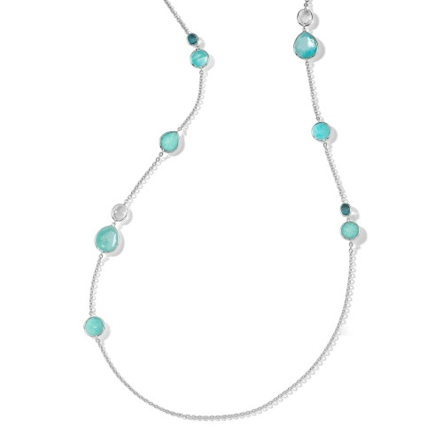 Rock Candy Mixed Stone Long Necklace