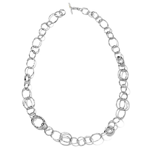 Classico Long Hammered Bastille Necklace