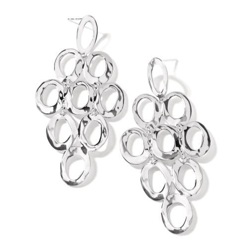 Open Oval Cascade Earrings
