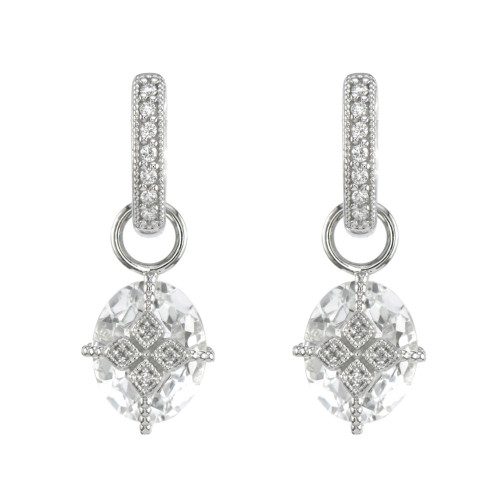 18KT Lisse Oval Lacey Kite Earring Charms