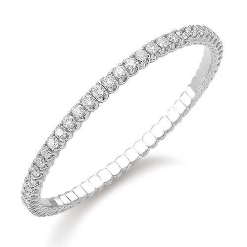 18KT Xpandable 55mm Diamond Bracelet