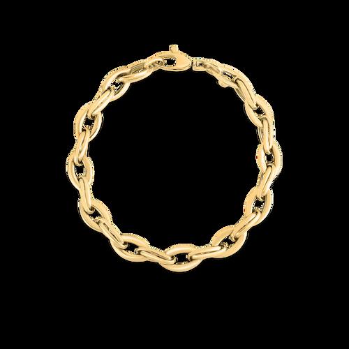 18KT High Polish Almond Link Chain Bracelet