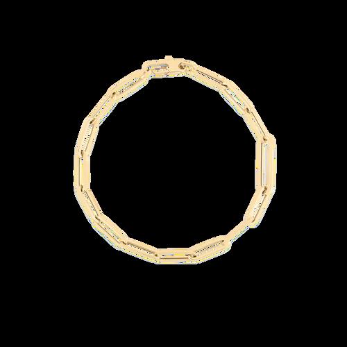 18KT Alternating Paperclip Chain Bracelet