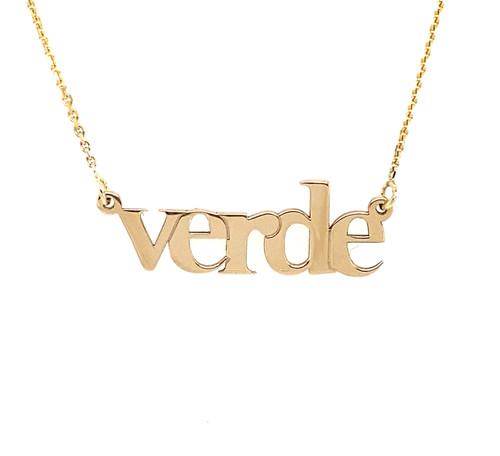 14KT Verde Letter Necklace