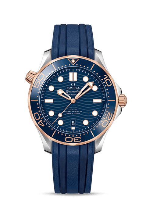 Seamaster Diver 300M Omega Co-Axial Master Chronometer 42 mm Sedna Gold