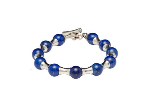 Saville Lapis Bead Bracelet