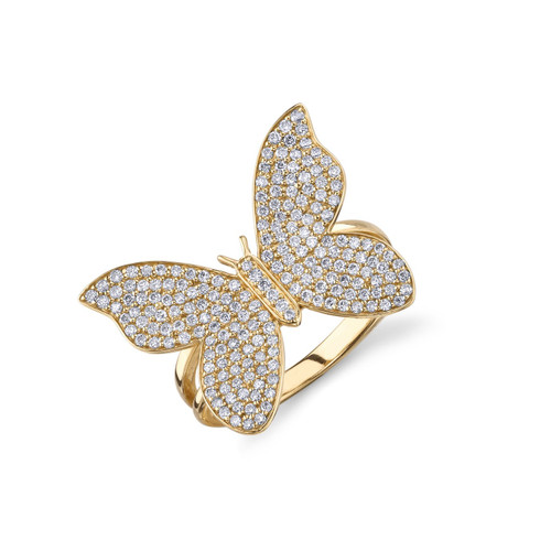 14KT Large Butterfly Ring