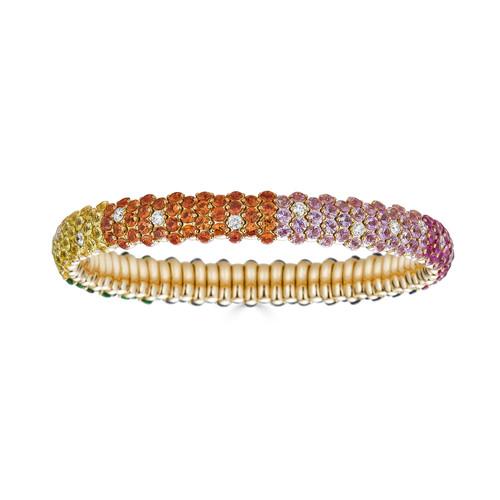 18KT Rainbow Stretch Bracelet