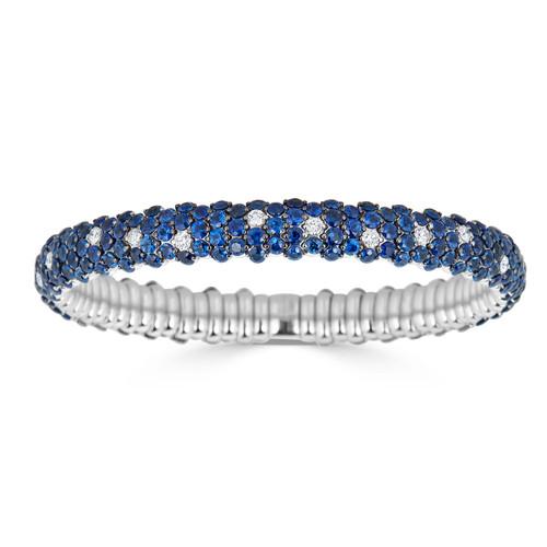 18KT Blue Sapphire Stretch Bracelet