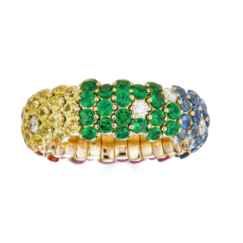 18KT Rainbow Stretch Ring