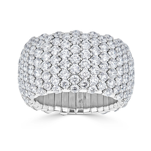 18KT Diamond Pave Stretch Ring