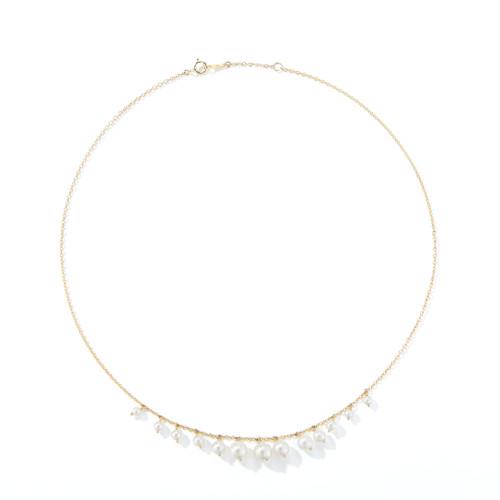 14KT Graduate Pearl Fringe Necklace