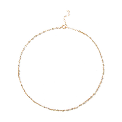 14KT Wrapped Bead Chain Necklace