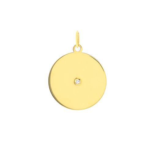 14KT Diamond Disc Charm