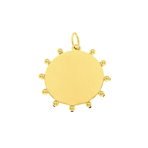 14KT Accent Bead Disc Charm