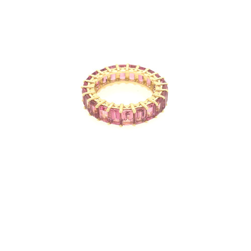 Pink Tourmaline Eternity Ring