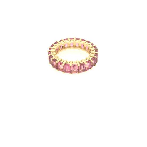 Pink Tourmaline Eternity Ring