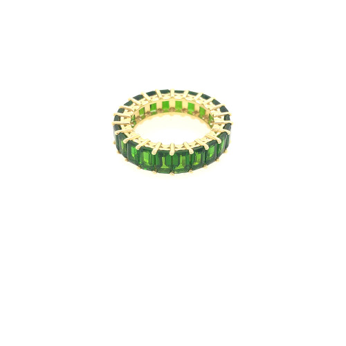 Chrome Diopside Eternity Ring