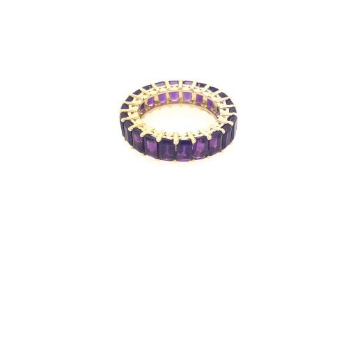 Amethyst Eternity Ring