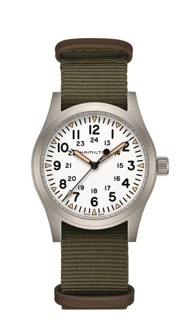 Khaki Field Mechanical White Dial Watch