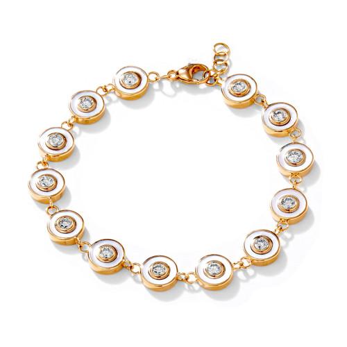 18KT Cosmic Mother of Pearl Diamond Bracelet