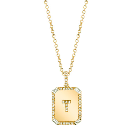 18KT Initial Mini Nameplate Necklace