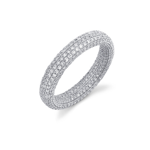 18KT Inside & Out Eternity Band