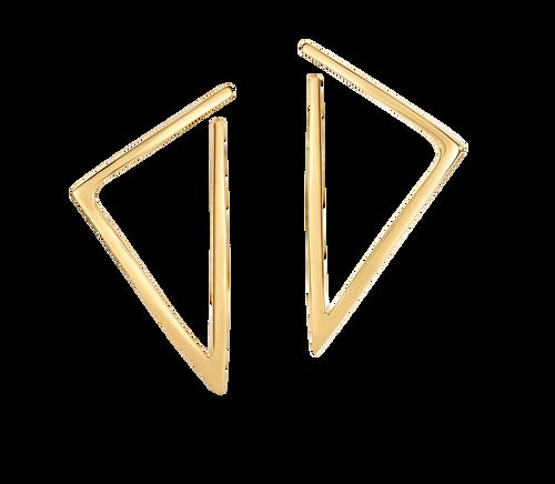 18KT Open Triangle Earrings