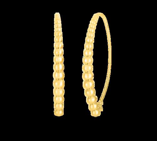18KT Graduated Bead Threader Earrings
