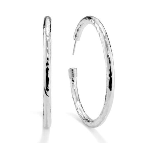 Large Hammered Hoop Earrings