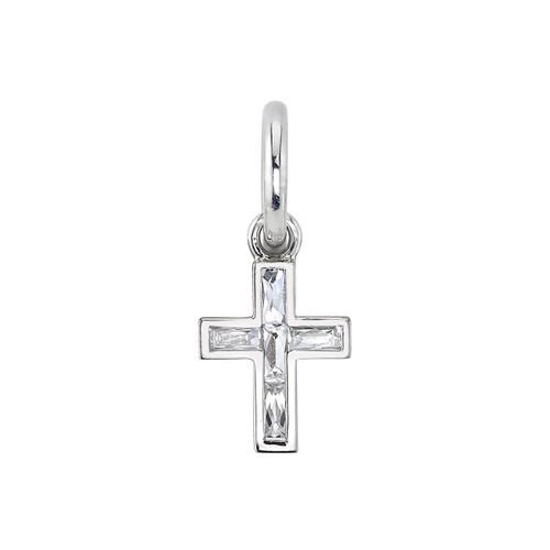 18KT Mini French Cut Carmela Cross
