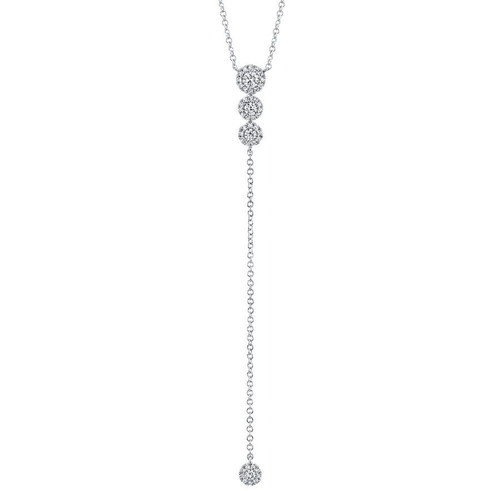 14KT Diamond Lariat Necklace